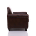 Side view of a leather armchair Royalty Free Stock Images