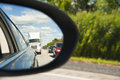 Side view mirror reflection Royalty Free Stock Photo