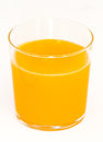Side view of orange juice Stock Photo