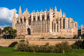 Side view palma de majorca cathedral balearic islands spain Royalty Free Stock Photo