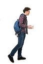 Side view portrait of a young male student Royalty Free Stock Photo