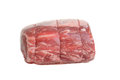 Side view prime rib roast isolated Stock Photos