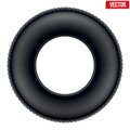 Side view of Realistic rubber tire symbol. Vector