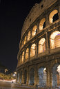 Side view of the roman colosseum italy night Stock Photography