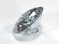 Side view of a shining diamond on a white background Royalty Free Stock Photo