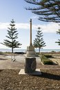 Side View Soldiers War Memorial Cross, Victor Harbor, South Aust Royalty Free Stock Photo