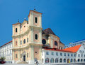 Side view of Trinitarian Church (1717), Bratislava, Slovakia Royalty Free Stock Photography