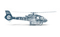 Side view Wire frame Helicopter