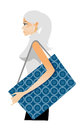 Side view woman holding bag Stock Photos