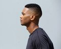 Side view of a young african american man Royalty Free Stock Photo