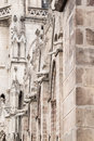 Side wall of the basilica del voto nacional showing animals serving as gargoyles in quito in ecuador Royalty Free Stock Photography