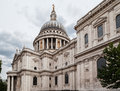 Side wall dome saint paul cathedral downtown london england Stock Photography