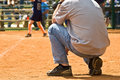 Sideline Coach/Girls Softball Royalty Free Stock Photo