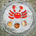 Sidewalk artwork, Crab