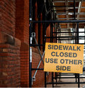 Sidewalk Closed Royalty Free Stock Images