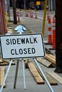 Sidewalk closed Royalty Free Stock Photo