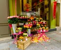 Sidewalk Floral Shop Display Royalty Free Stock Photo