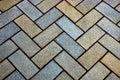 Sidewalk tile from stone bricks