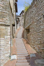 Sidewalks of Assisi, Italy Royalty Free Stock Photo