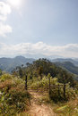 Sideway landscape of the road to umphang mae hong son province thailand Royalty Free Stock Images