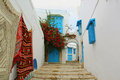 Sidi bou said in tunisia a street the town of Royalty Free Stock Photography