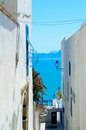 Sidi bou said tunisia two houses in Stock Image