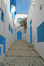 Sidi bou said the typical tunisian architecture at Stock Images