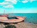 Sidi mansour tunisia sunset Royalty Free Stock Photo