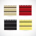 Siding texture sample small color icons vector illustration Stock Images