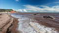 Sidmouth beach devon england overlooking uk europe Stock Photography