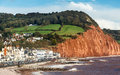 Sidmouth beach devon england overlooking uk europe Stock Photos