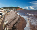 Sidmouth beach devon england overlooking uk europe Stock Photo