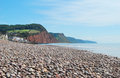 Sidmouth in devon rocky beach south west england Stock Photo