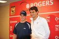 Sidney Crosby & Federer at Rogers Cup 2010 (4) Stock Photos