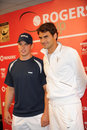 Sidney Crosby & Federer at Rogers Cup 2010 (6) Royalty Free Stock Photo
