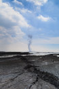 Sidoarjo mud flow blowout in indonesia lapindo catastrophic oilfield incident porong east java Stock Photo