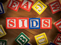 Sids sudden infant death syndrome concept in blocks Royalty Free Stock Photography