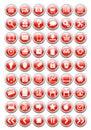 Sieci ikony dla eshop z glansowanym skutkiem Zdjęcia Royalty Free