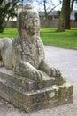 Siedzący kamienny sfinks Zdjęcia Royalty Free