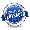 Siegel Button Banner - Danke für Ihr Vertrauen - in blau und silber Royalty Free Stock Photo