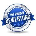 Siegel Button Banner - Top Kundenbewertung - in blau und silber Royalty Free Stock Photo