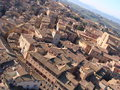 Siena aerial landscape of tuscany italy Royalty Free Stock Photos