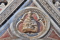 Siena cathedral detail duomo di facade dedicated to holy mary our lady of the assumption italy Stock Photos