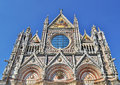 Siena cathedral duomo di facade detail dedicated to holy mary our lady of the assumption italy Stock Photos