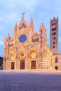 Siena cathedral of duomo di italy Stock Photography