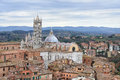 Siena cathedral duomo di siena a medieval church in italy view from the campanile tower del mangia Royalty Free Stock Image