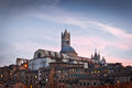 Siena cathedral duomo di at twilight italy historic centre of is at unesco world heritage list Stock Photo