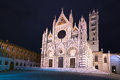 Siena cathedral duomo landmark night photography tuscany ital as known as italy europe Royalty Free Stock Photos