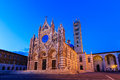 Siena italy the cathedral of duomo di at twilight Royalty Free Stock Photos