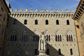 Siena palazzo salimbeni is a historical building in central italy which currently houses the seat of the monte dei paschi di Stock Photography